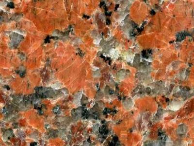granit biało pomarańczowy